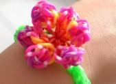 Bracelet élastique « Fleur » sans machine
