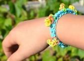 Bracelet élastique à pétales